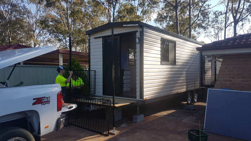 Setting up a temporary granny flat